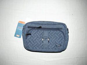 Lug Carousel Navy Blue Zipper Adjustable Strap Multiple Pocket Crossbody Bag NWT