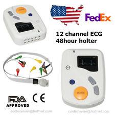 TLC6000 Dynamic ECG EKG holter 48 hour Recorder Analysis software,USB,USA Seller