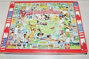 AMERICAN SPORTS HISTORY JIGSAW PUZZLE 1000 PIECES 24 X 30 INCHES MADE IN U.S.A.