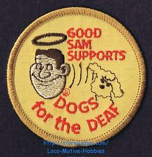 LMH PATCH Badge GOOD SAM CLUB Supports DOGS FOR THE DEAF Benefit RV Camping Sams