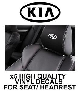 KIA LOGO HEADREST CAR SEAT DECALS Vinyl Stickers - Graphics X5