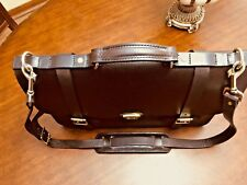 FILSON Brown Field Satchel / Briefcase / Messenger Bag - Made In America