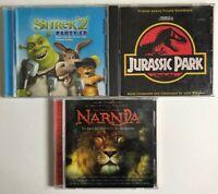 Lot Of 3 Original Motion Picture Soundtrack CD's Jurassic Park/ Narnia/ Shrek 2