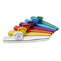 New Kazoo Metal with Flute Diaphragm Gift for Kids Music Lovers 6 Color EH#