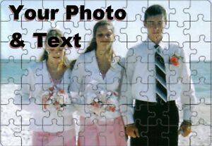 Personalized Custom Jigsaw Puzzle 120 pc Family Photo Image Picture Text Words