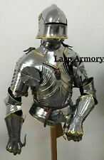 Medieval Knight Suit of Half Armor Wearable Halloween Costume Armor  Suit
