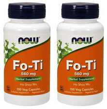 2-Pack Of Fo-Ti Ho Shou Wu 560 mg 100 Caps, Now Foods, Dextox Constipation