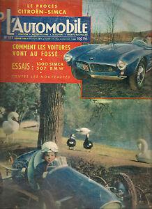 L'AUTOMOBILE 117 1956 ESSAI SIMCA ARONDE 1300 GOLIATH ESSAI PUCH 175 SVS