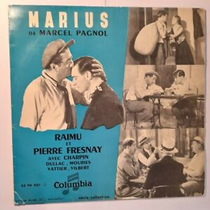 """""""Marius"""" de Marcel PAGNOL - LP 25 cm - 33 tours - COLUMBIA 33 FH 501"""