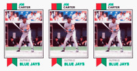 (3) 1993 SCD #76 Joe Carter Baseball Card Lot Toronto Blue Jays