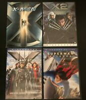 Superhero 4 DVD Lot X-men 1, 2, & 3 United The Last Stand Superman Returns wide