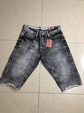 bound for glory Black Wash Denim Shorts Size 34