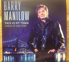 BARRY MANILOW SIGNED MY TOWN SONGS OF NY SIGNED LP BARNES EXCLUSIVE VINYL WOW