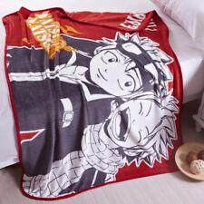 Anime Fairy Tail Natsu Dragneel Soft Warm Plush Throw Blanket Bedding Rug Gift