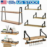 Multi Floating Shelves Wall Rustic Wood for Bathroom Living Room Bedroom Office