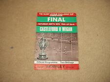 1970 Castleford v Wigan Challenge Cup Final Rugby League Program