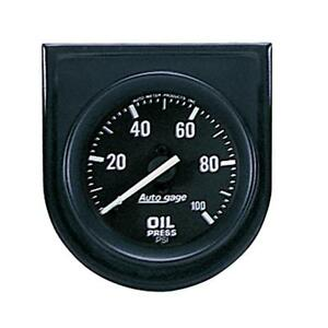 """Auto Meter Oil Pressure Gauge 2332; Auto Gage 0 to 100 psi 2-1/16"""" Mechanical"""