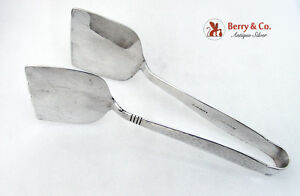 Swedish Modern Sandwich Tongs Allan Adler 1960 Sterling Silver