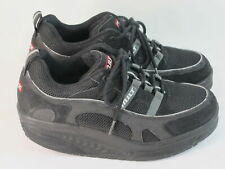 MBT Sport 03 Black Leather & Mesh Toning Fitness Shoes Women's Size 7.5 M US EUC