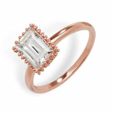 Rose Gold Plated Solitaire Costume Rings Sizableless
