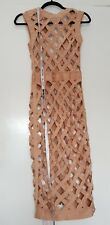 House of cb dress size M. 2 piece nude bandage wiggle dress with pearl detail.
