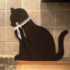Lavagnetta fatta a mano, gatto nero, cucina Shabby chic,cameretta,bimbi,regalo
