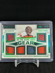 2020-21 Leaf In The Game Used - JOHN VANBIESBROUCK - Gear 6X Game-Used Relic /4