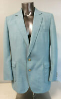 Mens Imperial by Haggar Light Blue Polyester Vintage Blazer Suit Jacket Size 44L