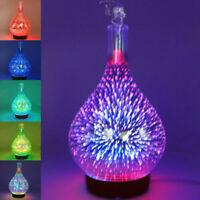 Home Essential Oil Diffuser 3D Firework Glass Aroma Diffuser Ultrasonic Hu B2Q2