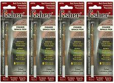 Four (4) Fisher Space Pen Burgundy Ink / Medium Point Refills / #SPR5