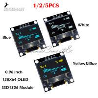 "[1-5PCS] 0.96"" I2C IIC Serial 128X64 OLED LCD Display Module SSD1306 for Arduino"