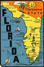 Vintage Travel Decal Replica Window Cling - Florida