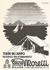 W9538 Tende da campo Ettore MORETTI - Pubblicità del 1938 - Old advertising