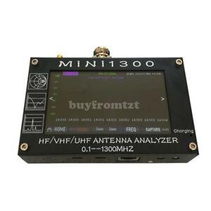 """Mini1300 HF/VHF/UHF Antenna Analyzer 0.1-1300MHz w/4.3"""" TFT LCD Touch Screen sz"""