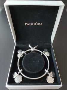 Pandora 4 Harry Potter Charms and Bracelet All Houses S925 ALE