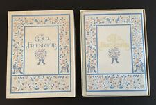 """THE GOLD OF FRIENDSHIP """"A BOUQUET OF SPECIAL THOUGHTS"""" HARDCOVER BOOK W/GIFT BOX"""