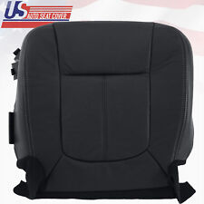 2011 - 2016 Ford F350 Lariat Driver Bottom Perforated Leather Seat Cover Black