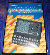 Crossword Puzzles Electronic Handheld Travel Game In The Box With Instructions