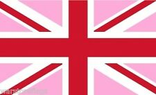 """UNION JACK PINK 18"""" X 12"""" FLAG boats treehouses caravans clubs GAY RIGHTS PRIDE"""