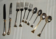 Supreme cutlery Towle gold aristocrat newly wed set stainless flatware 10pc