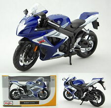 Classic New SUZUKI GSX R750 1:12 Motorcycle Model Blue Ornament Xmas Gift