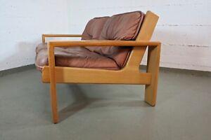Asko 2er Bonanza Sofa Leder Oak Vintage Modern 60s 60er Mid Century 70s 70er
