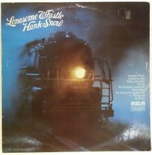 HANK SNOW - vintage vinyl LP - Lonesome Whistle