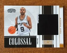 2009-10 National Treasures TONY PARKER Colossal Materials Prime Patch #D 09/10