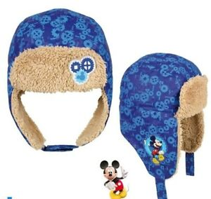 Russische Kinder Wintermütze * Disney Micky Maus* Gr. 52-54 cm Fliegermütze