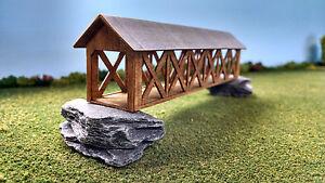 HO Scale Laser Cut Covered Bridge Kit