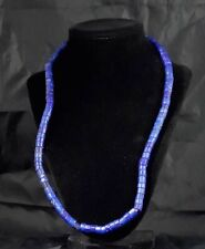 Vintage Venetian Murano Blue Russian African Traded Bead Necklace
