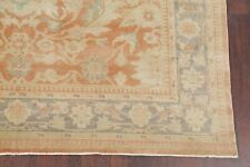 Antique Vegetable Dye Muted Oushak Turkish Area Rug Hand-Knotted Oriental 8x11