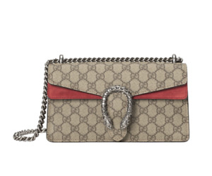 GUCCI, Women's crossbody bag with chain and snakehead, 25 * 13.5 * 7 cm ,Small