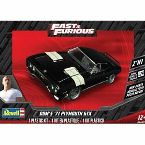 1:24 1971 Plymouth GTX - Dom's Fast & Furious -- PLASTIC KIT -- Revell